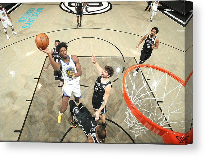 Nba Pro Basketball Canvas Print featuring the photograph Golden State Warriors v Brooklyn Nets by Nathaniel S. Butler