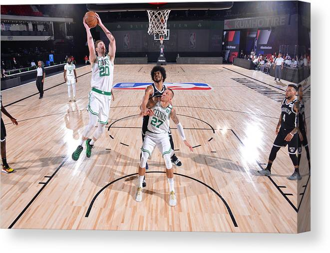 Nba Pro Basketball Canvas Print featuring the photograph Gordon Hayward by Bill Baptist