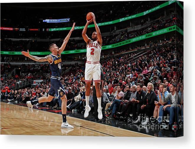 Nba Pro Basketball Canvas Print featuring the photograph Jabari Parker by Jeff Haynes