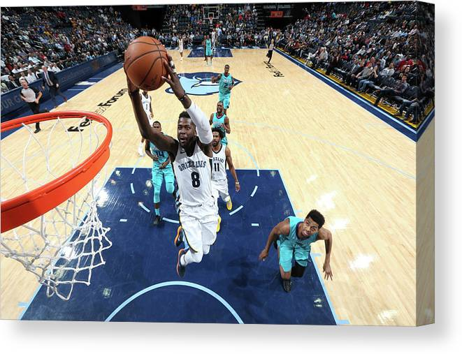 Nba Pro Basketball Canvas Print featuring the photograph James Ennis by Joe Murphy