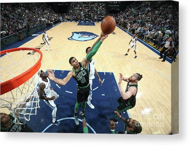 Nba Pro Basketball Canvas Print featuring the photograph Jayson Tatum by Joe Murphy
