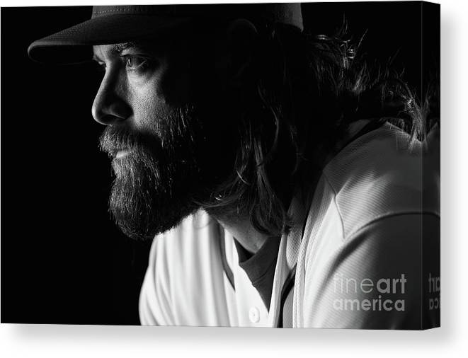 Media Day Canvas Print featuring the photograph Jayson Werth by Chris Trotman