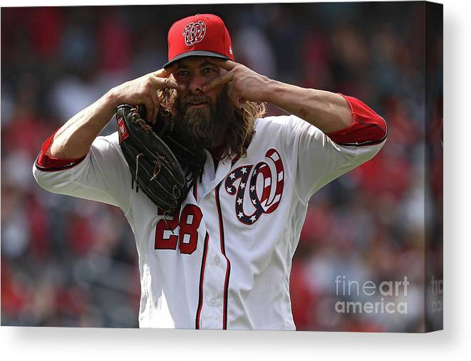 People Canvas Print featuring the photograph Jayson Werth by Patrick Smith