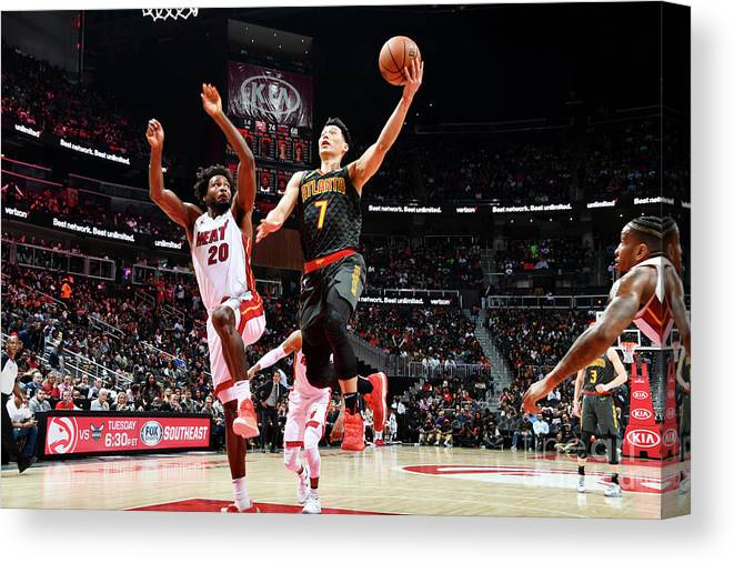 Atlanta Canvas Print featuring the photograph Jeremy Lin by Scott Cunningham