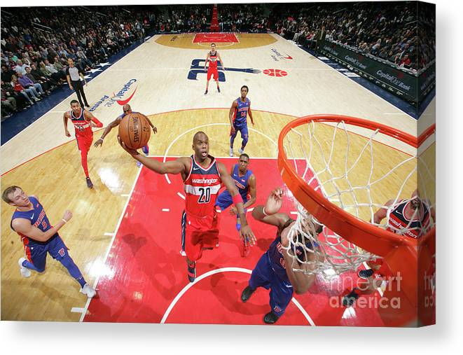 Jodie Meeks Canvas Print featuring the photograph Jodie Meeks by Ned Dishman