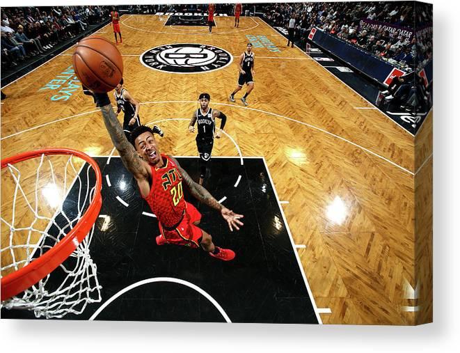 Nba Pro Basketball Canvas Print featuring the photograph John Collins by Nathaniel S. Butler