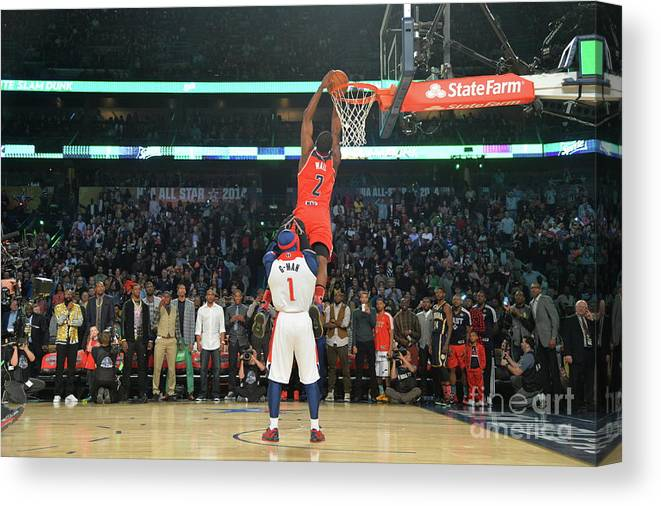Smoothie King Center Canvas Print featuring the photograph John Wall by Jesse D. Garrabrant