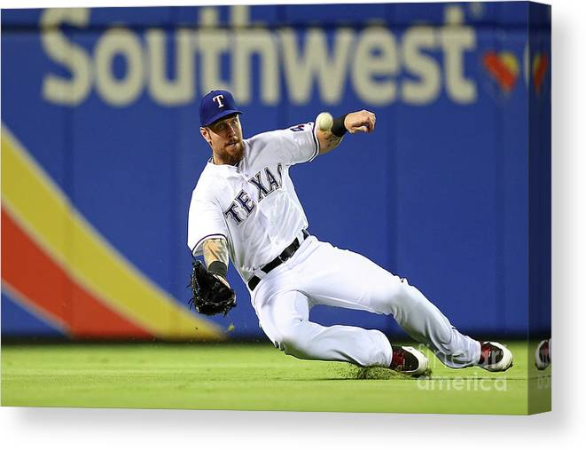 People Canvas Print featuring the photograph Josh Hamilton by Sarah Crabill