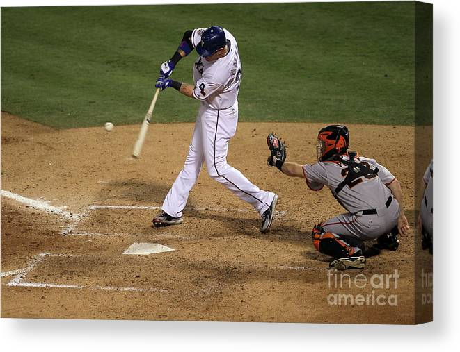 People Canvas Print featuring the photograph Josh Hamilton by Stephen Dunn
