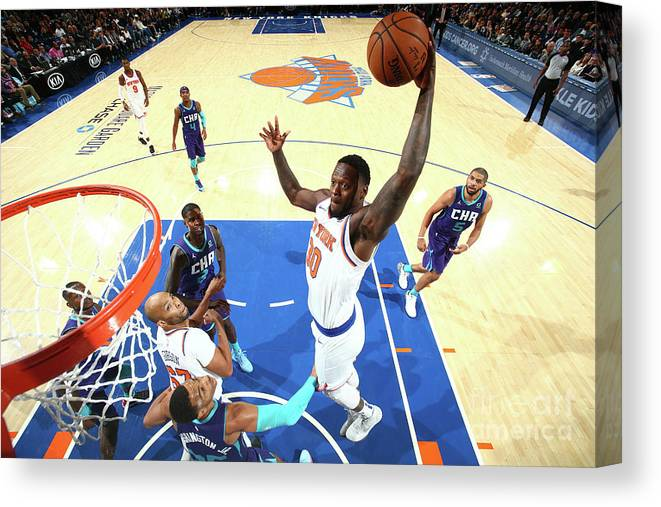 Nba Pro Basketball Canvas Print featuring the photograph Julius Randle by Nathaniel S. Butler