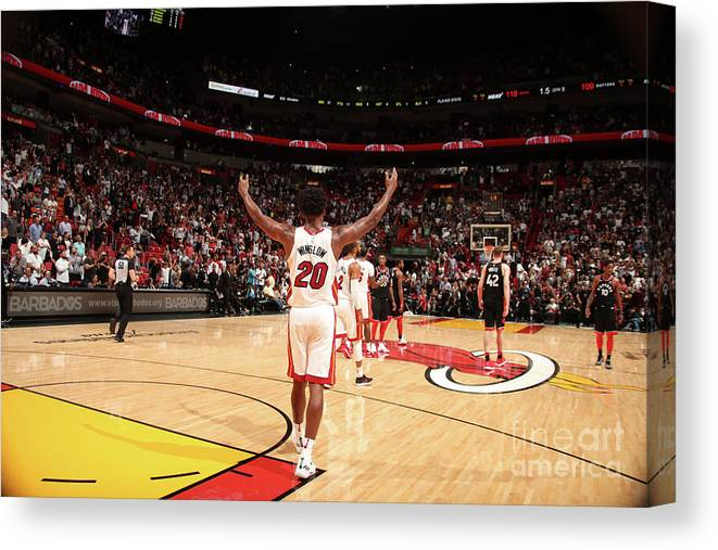 Justise Winslow Canvas Print featuring the photograph Justise Winslow by Issac Baldizon