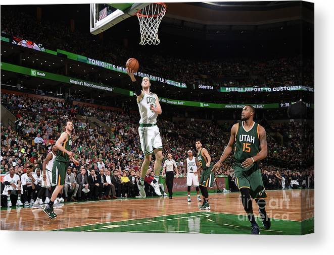 Nba Pro Basketball Canvas Print featuring the photograph Kelly Olynyk by Brian Babineau