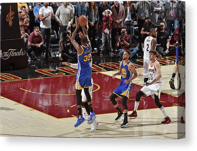 Playoffs Canvas Print featuring the photograph Kevin Durant by David Liam Kyle