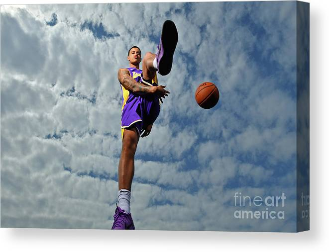 Nba Pro Basketball Canvas Print featuring the photograph Kyle Kuzma by Jesse D. Garrabrant