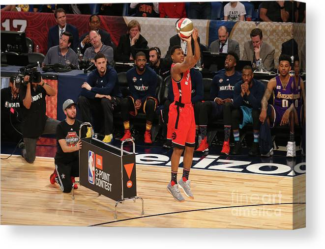 Event Canvas Print featuring the photograph Kyle Lowry by Gary Dineen