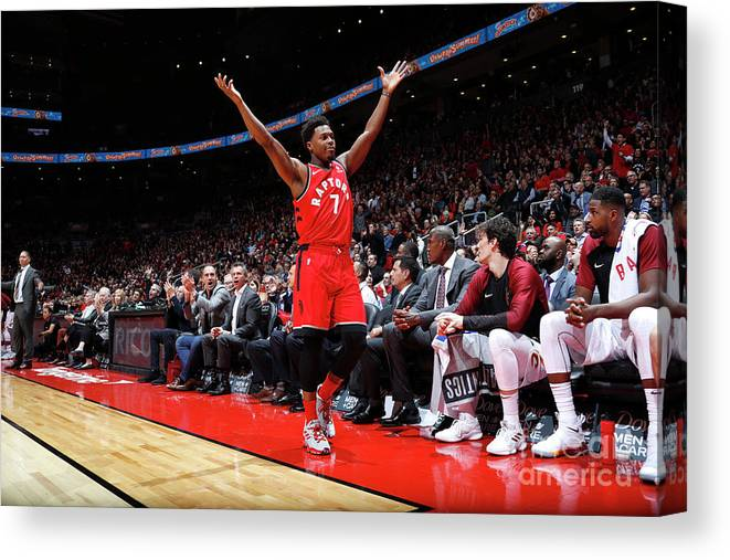 Nba Pro Basketball Canvas Print featuring the photograph Kyle Lowry by Mark Blinch