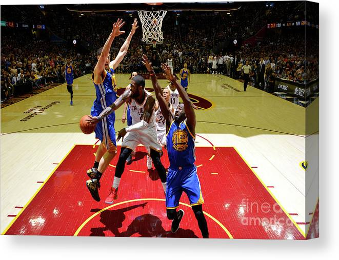 Playoffs Canvas Print featuring the photograph Kyrie Irving by Jesse D. Garrabrant