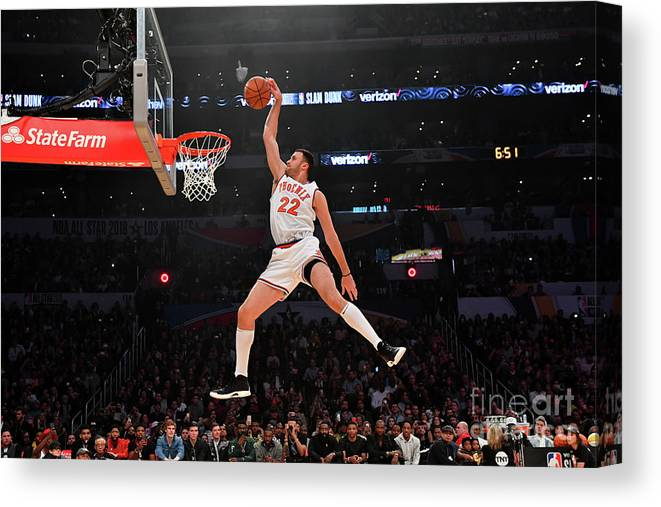 Event Canvas Print featuring the photograph Larry Nance by Jesse D. Garrabrant
