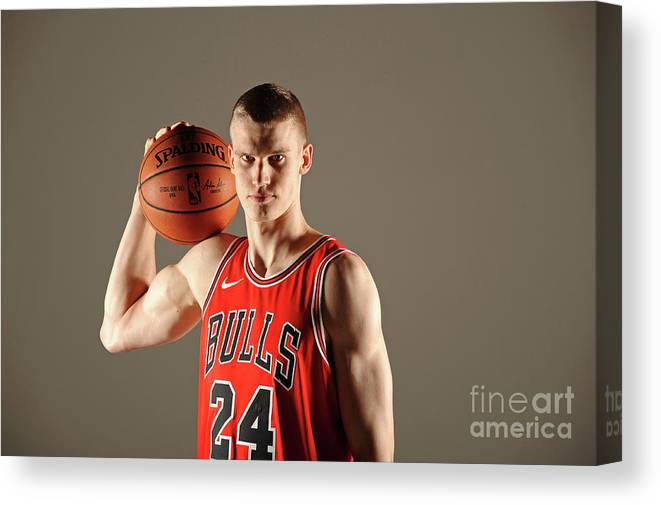 Media Day Canvas Print featuring the photograph Lauri Markkanen by Randy Belice