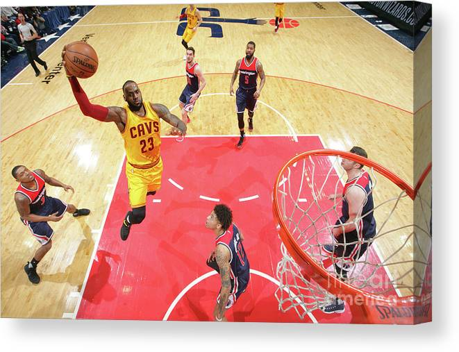 Nba Pro Basketball Canvas Print featuring the photograph Lebron James by Ned Dishman