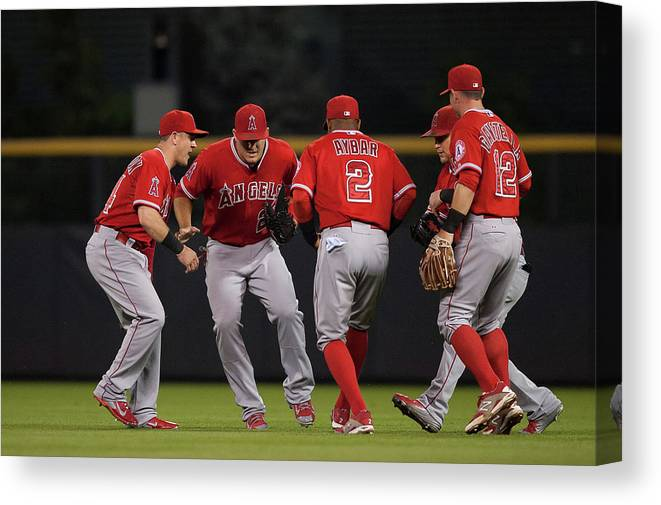 People Canvas Print featuring the photograph Los Angeles Angels Of Anaheim V by Dustin Bradford