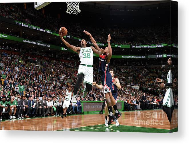 Playoffs Canvas Print featuring the photograph Marcus Smart by Brian Babineau