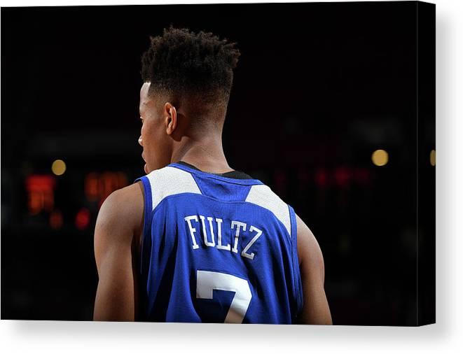 Nba Pro Basketball Canvas Print featuring the photograph Markelle Fultz by Garrett Ellwood
