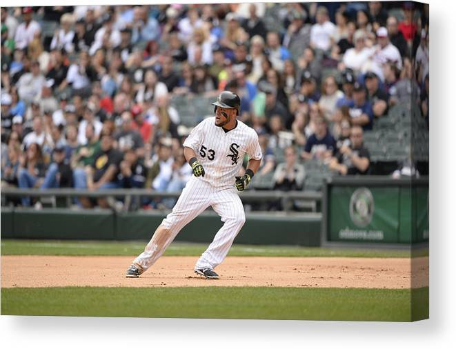 People Canvas Print featuring the photograph Melky Cabrera by Ron Vesely