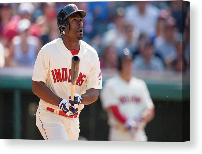 Michael Bourn Canvas Print featuring the photograph Michael Bourn by Jason Miller