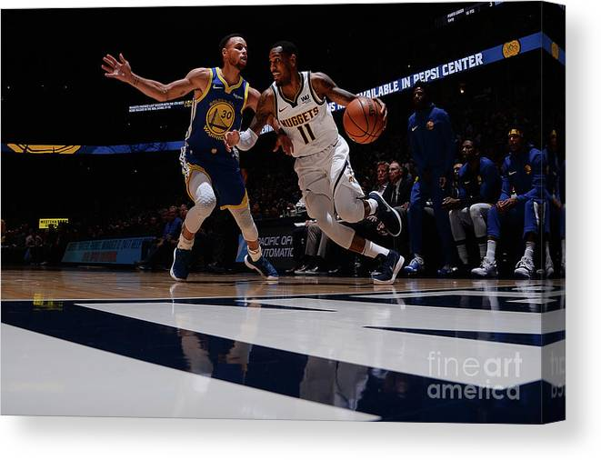 Nba Pro Basketball Canvas Print featuring the photograph Monte Morris by Bart Young