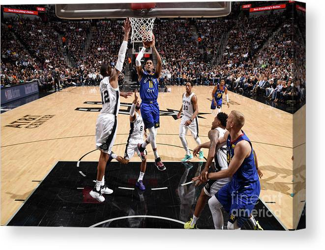 Playoffs Canvas Print featuring the photograph Monte Morris by Garrett Ellwood