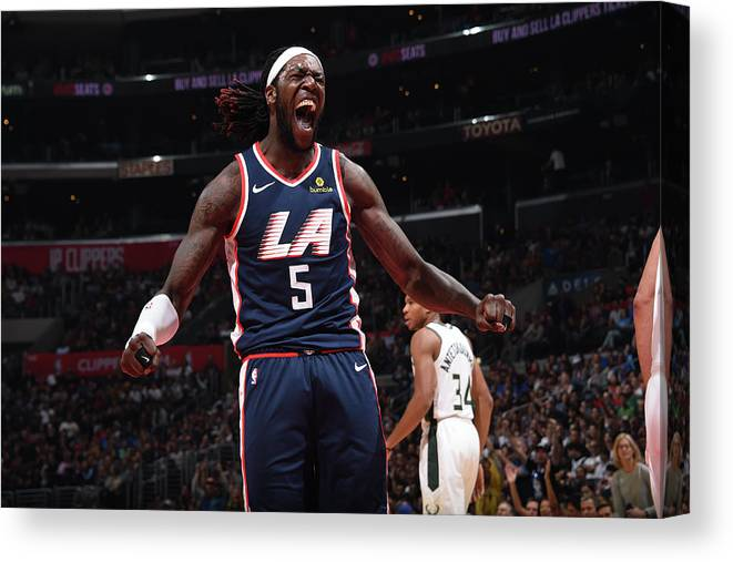 Nba Pro Basketball Canvas Print featuring the photograph Montrezl Harrell by Adam Pantozzi