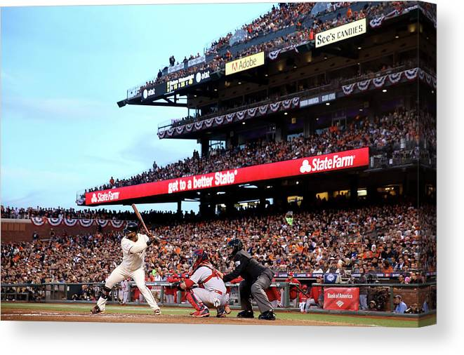 Playoffs Canvas Print featuring the photograph Pablo Sandoval by Christian Petersen