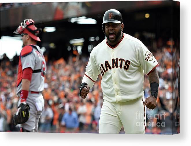 Playoffs Canvas Print featuring the photograph Pablo Sandoval by Thearon W. Henderson