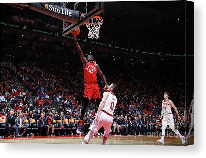 Nba Pro Basketball Canvas Print featuring the photograph Pascal Siakam by Mark Blinch