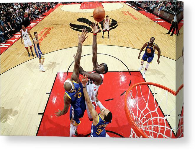 Playoffs Canvas Print featuring the photograph Pascal Siakam by Nathaniel S. Butler