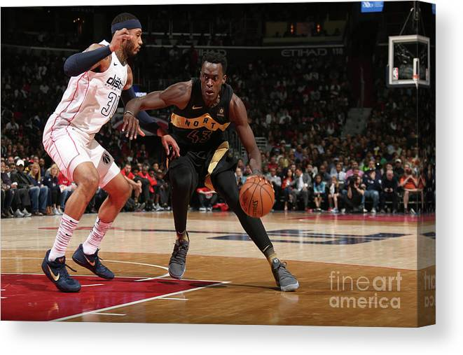 Playoffs Canvas Print featuring the photograph Pascal Siakam by Ned Dishman