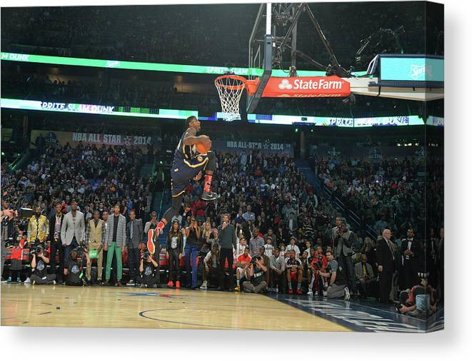 Smoothie King Center Canvas Print featuring the photograph Paul George by Jesse D. Garrabrant