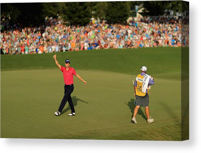 North Carolina Canvas Print featuring the photograph PGA Championship - Final Round by Mike Ehrmann