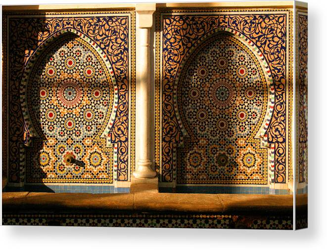Water Fountain Canvas Print featuring the photograph Public Water Fountain Rabat Morocco Northern Africa by PIXELS XPOSED Ralph A Ledergerber Photography