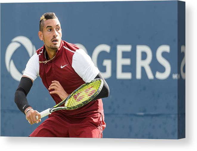 Tennis Canvas Print featuring the photograph Rogers Cup Montreal - Day 4 by Minas Panagiotakis