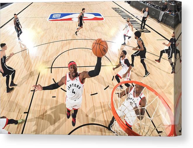 Playoffs Canvas Print featuring the photograph Rondae Hollis-jefferson by Jesse D. Garrabrant