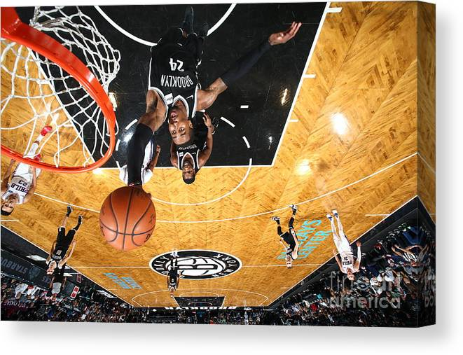 Nba Pro Basketball Canvas Print featuring the photograph Rondae Hollis-jefferson by Nathaniel S. Butler