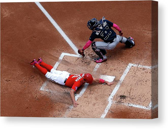 Baseball Catcher Canvas Print featuring the photograph Ryan Zimmerman by Patrick Smith