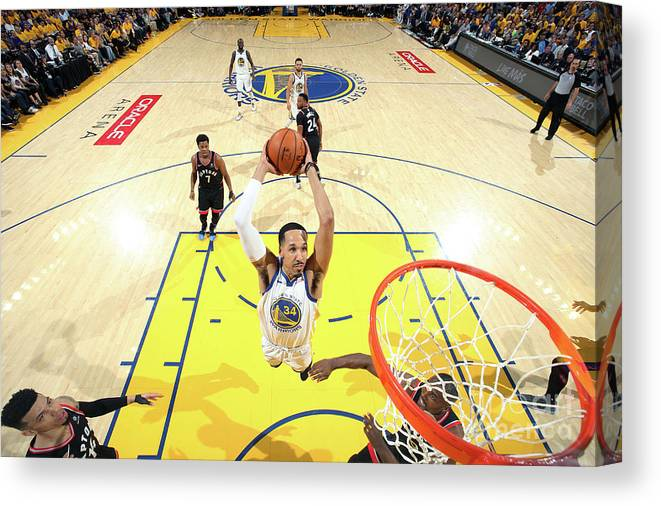 Playoffs Canvas Print featuring the photograph Shaun Livingston by Nathaniel S. Butler