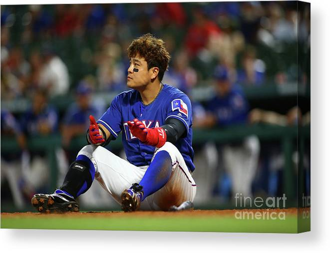 Ninth Inning Canvas Print featuring the photograph Shin-soo Choo by Rick Yeatts