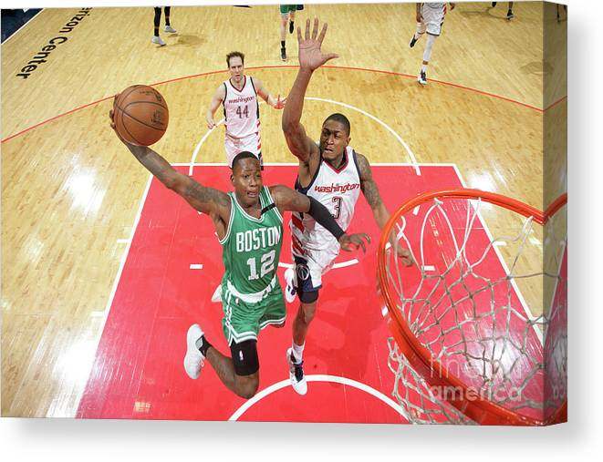 Playoffs Canvas Print featuring the photograph Terry Rozier by Ned Dishman