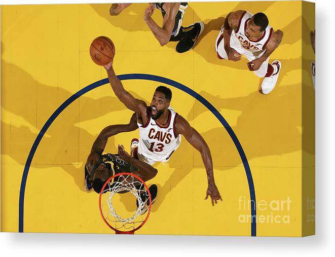 Playoffs Canvas Print featuring the photograph Tristan Thompson by Nathaniel S. Butler