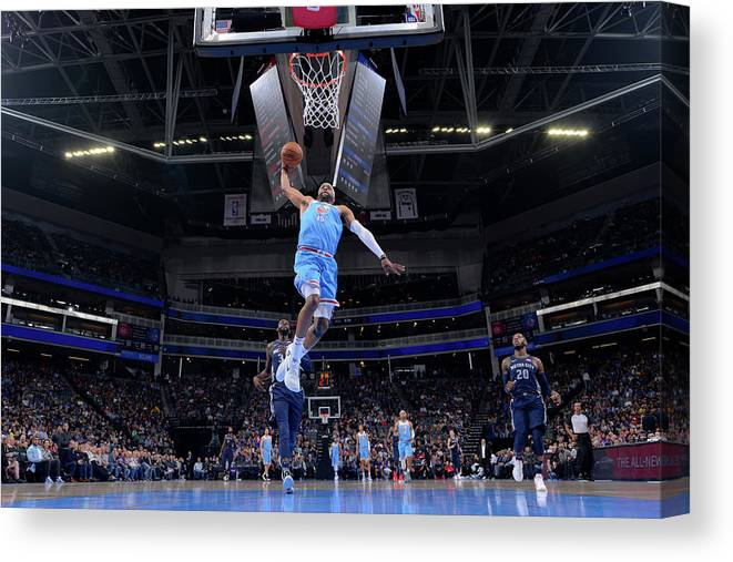 Nba Pro Basketball Canvas Print featuring the photograph Vince Carter by Rocky Widner