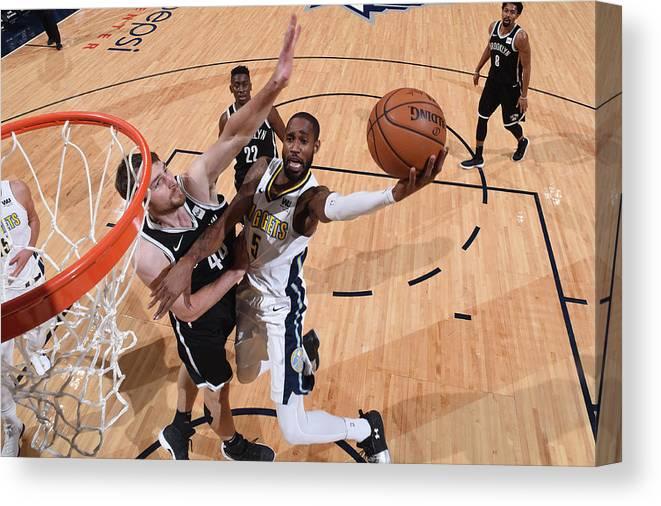 Nba Pro Basketball Canvas Print featuring the photograph Will Barton by Garrett Ellwood